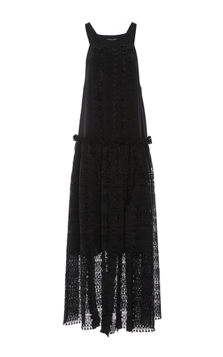 Medium marissa webb black karina lace long dress