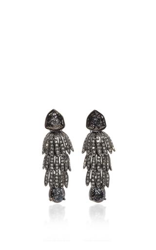 Medium oscar de la renta black wisteria drop earrings