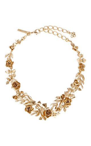 Medium oscar de la renta gold wreath necklace
