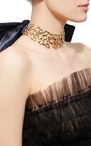 Taffetta Tie Choker by OSCAR DE LA RENTA Now Available on Moda Operandi