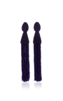 Long Beaded Tassel Earring by OSCAR DE LA RENTA Now Available on Moda Operandi