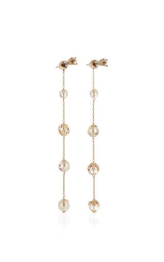 Long Crystal Earring by OSCAR DE LA RENTA Now Available on Moda Operandi