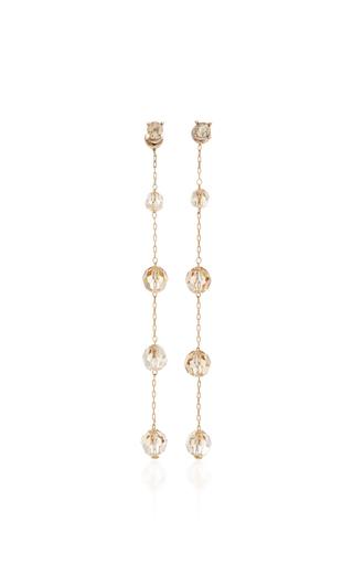 Medium oscar de la renta gold long crystal earring