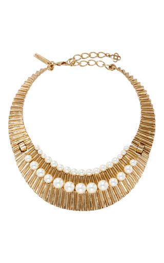 Medium oscar de la renta gold gold princess necklace