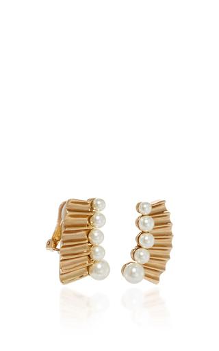 Gold And Pearl Earring by OSCAR DE LA RENTA Now Available on Moda Operandi