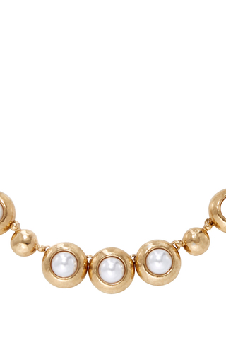 Gold And Pearl Necklace by OSCAR DE LA RENTA Now Available on Moda Operandi