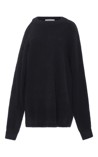 Medium tibi navy cutout shoulder sweater