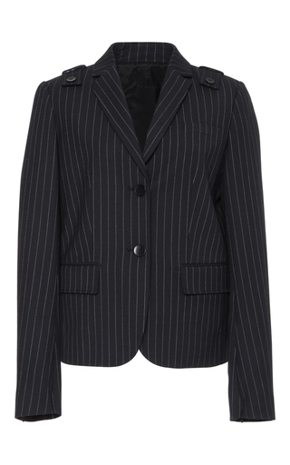 Medium tibi stripe delmont shrunken blazer