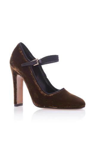 Medium etro gold mary jane heels