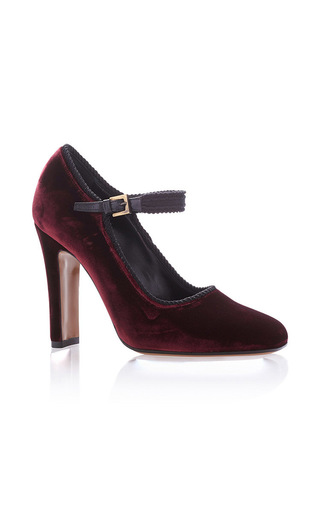 Medium etro burgundy mary jane heels  4