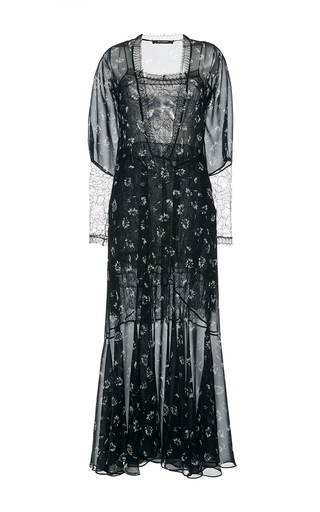 Medium etro black lace v neck dress