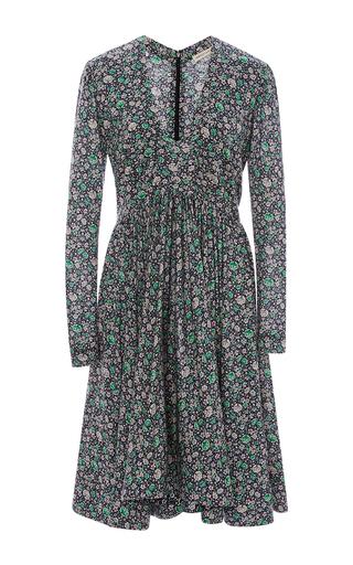 Medium rebecca taylor purple lavish garden pleated dress
