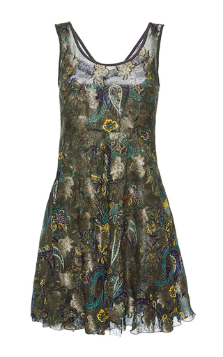 Medium etro print sleeveless mini dress
