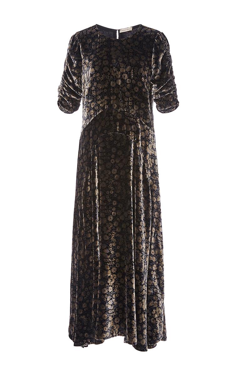 Liane floral Velvet Midi Dress by Rebecca Taylor | Moda Operandi