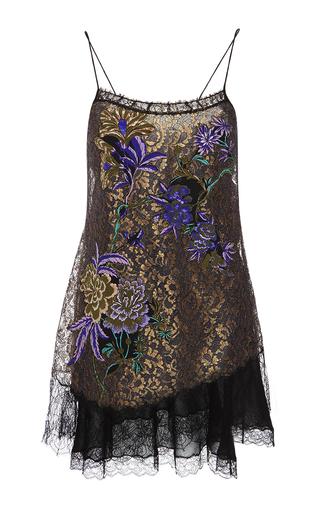 Medium etro print lace hem slip dress