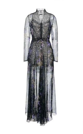 Medium etro black floral flared maxi dress
