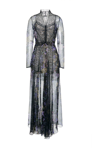 Medium etro black floral flared maxi dress