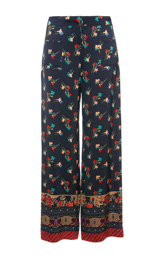 Medium etro black silk pajama pants