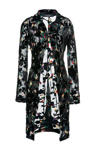 Medium etro black floral overcoat