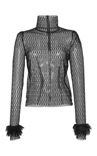 Medium philosophy di lorenzo serafini black circular lace turtleneck