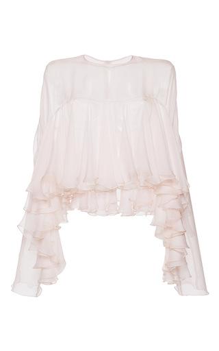 Medium philosophy di lorenzo serafini light pink tiered ruffle chiffon blouse