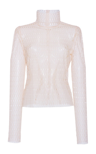 Medium philosophy di lorenzo serafini pink circular lace turtleneck  2