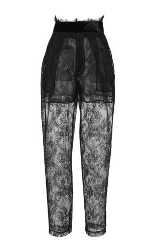 Medium philosophy di lorenzo serafini black sheer high waisted lace pants