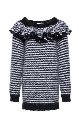 Medium philosophy di lorenzo serafini white superkid mohair long striped sweater