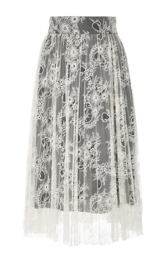 Medium philosophy di lorenzo serafini black white pleated lace midi skirt