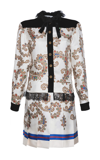 Medium philosophy di lorenzo serafini multi printed twill and lace mini dress