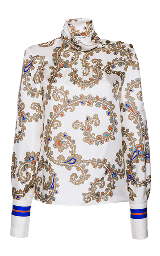Medium philosophy di lorenzo serafini multi printed twill fantasy blouse