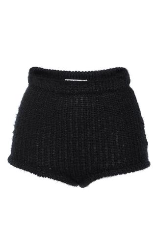 Medium philosophy di lorenzo serafini black extrafine merion wool high waisted shorts