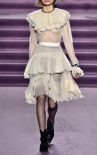 Medium philosophy di lorenzo serafini off white tiered ruffle tulle blouse