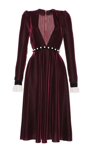 Medium philosophy di lorenzo serafini burgundy deep v velvet and lace midi dress