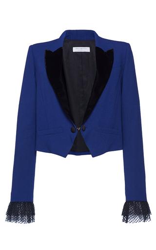 Medium philosophy di lorenzo serafini blue canvas colorblocked cropped blazer
