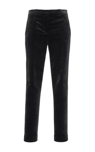 Medium philosophy di lorenzo serafini black tapered denim velvet trouser