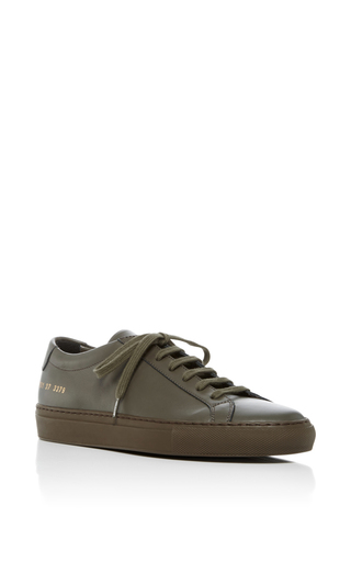 Medium common projects  2 green achilles lace up sneakers 3