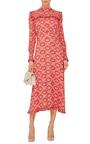 Miranda Georgette Frill Front Midi Dress by VILSHENKO Now Available on Moda Operandi