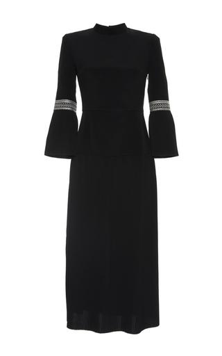 Medium vilshenko black dawn crepe pleated midi dress