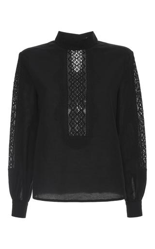 Medium vilshenko black esme embroidered bib blouse