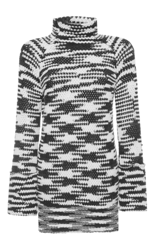 Medium missoni black black and white blaze turtleneck pullover