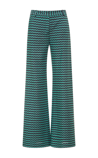 Medium missoni stripe teal chevron stripe wide leg pants
