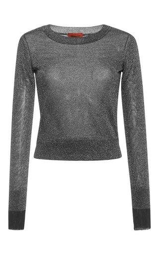 Medium missoni dark grey lame round neck long sleeve pullover