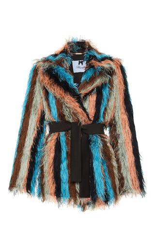 Medium blumarine multi striped belted jacket