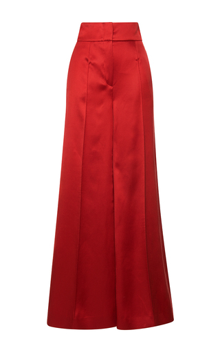 Medium blumarine red pleated flared trousers  3