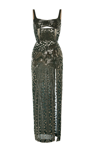 Embroidered Gown J. Mendel vclSE