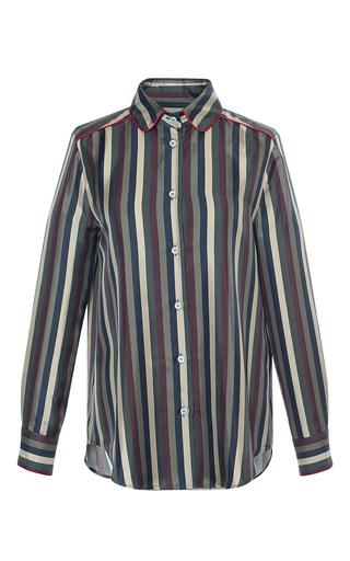 Medium for restless sleepers stripe leda striped twill top