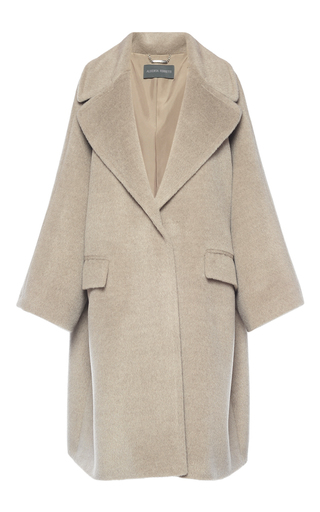 Medium alberta ferretti tan baby alpaca wool oversized coat