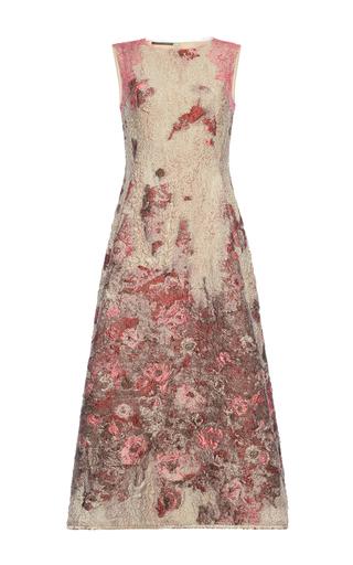 Medium alberta ferretti floral jacquard midi dress