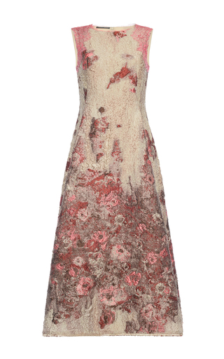 Medium alberta ferretti floral jacquard midi dress
